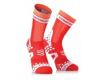 Chaussettes de compression COMPRESSPORT  Pro Racing BIKE Ultralight Rouge