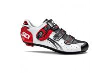 Chaussure Sidi genius 5 fit Blanc Noir Rouge
