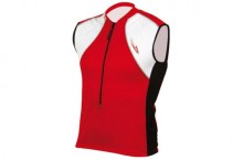 MAILLOT MASSI SANS MANCHES ALPS ROUGE/BLANC
