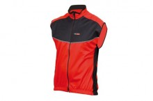 GILET MASSI 100% WINDTEX rouge/noir