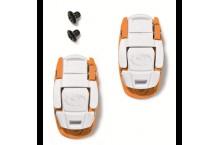boucles sidi caliper  Blanc/orange